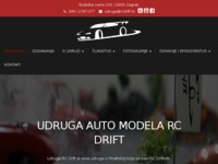 Frontpage screenshot for site: RC Drift – Udruga auto modela (http://www.rcdrift.hr)