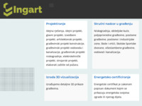 Frontpage screenshot for site: Ingart.hr (http://ingart.hr/)