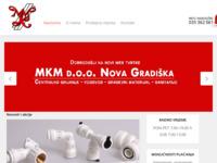 Frontpage screenshot for site: MKM.hr - Centralno grijanje, vodovod, građevinski materijal. (http://www.mkm.hr/)