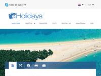 Frontpage screenshot for site: Turistička agencija eHolidays (http://eholidays.hr)