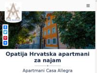 Frontpage screenshot for site: Opatija apartmani (http://www.opatijaapartmani.eu)