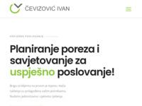 Slika naslovnice sjedišta: Čevizović Ivan j.t.d. | za porezno savjetništvo (http://www.cevizovic.eu)
