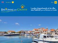 Frontpage screenshot for site: Apartman, kuća, Villa Hrvatska - Iznajmljivanje za odmor Hrvatska (http://www.bretonne-en-croatie.com)