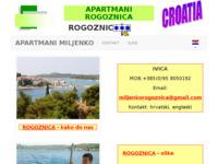 Frontpage screenshot for site: Apartmani Rogoznica - smještaj u Rogoznici - Miljenko (http://www.apartmani-rogoznica.info)