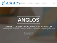 Frontpage screenshot for site: Anglos (http://anglos.hr)
