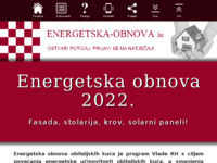 Frontpage screenshot for site: Energetska obnova (http://energetska-obnova.hr)