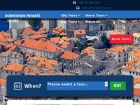 Frontpage screenshot for site: Dubrovnik Private Tours (http://dubrovnik-private-tours.com)