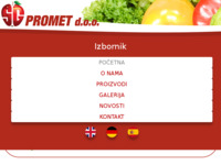 Frontpage screenshot for site: S.G. promet d.o.o. (http://sgpromet.hr/)