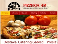 Frontpage screenshot for site: Pizzeria 4M (http://www.pizzeria4m.hr)
