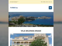 Frontpage screenshot for site: Vila Milenka Drage - Pakoštane (http://vila-milenka-drage.com)