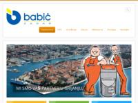 Slika naslovnice sjedišta: Babić d.o.o. - Zadar (http://www.babic.hr)