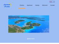 Frontpage screenshot for site: Apartmani Kristina (http://www.apartmanikristina.com)