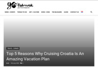Frontpage screenshot for site: Go Dubrovnik - Your travel companion (http://www.godubrovnik.com/)