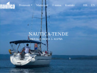 Frontpage screenshot for site: (http://www.nautica-tende.hr)