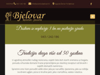 Frontpage screenshot for site: Restoran Bjelovar - Pizze iz krušne peći (http://pizzeria-bjelovar.hr/)