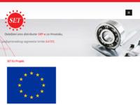 Frontpage screenshot for site: SET d.o.o. trgovina strojnih elemenata za prijenos snage (http://set-bjelovar.hr/)
