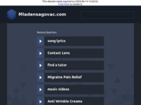 Frontpage screenshot for site: (http://www.mladensagovac.from.hr)