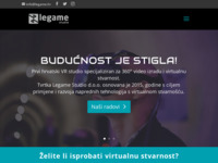 Frontpage screenshot for site: (http://www.legame.hr)