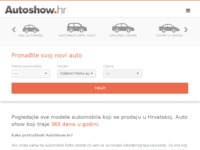 Frontpage screenshot for site: Auto Show - Autoshow.hr (http://www.autoshow.hr/)