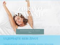 Slika naslovnice sjedišta: Zdravo spavanje (http://www.spavanje.kristali.net)