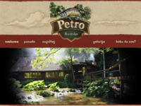 Frontpage screenshot for site: Petro Rastoke Tourist Agency (http://petro-rastoke.hr)