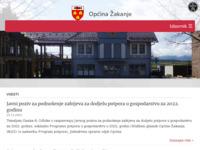 Slika naslovnice sjedišta: Općina Žakanje (http://www.opcina-zakanje.hr/)