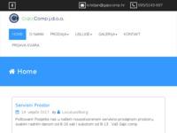 Frontpage screenshot for site: Gajo comp j.d.o.o. – Prodaja i servis računala i prateće opreme (http://www.gajocomp.hr)