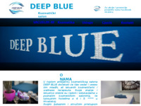 Frontpage screenshot for site: Kozmetički salon Deep Blue (http://deepblue.hr)