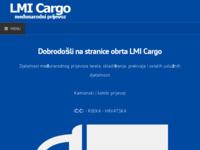 Slika naslovnice sjedišta: Međunarodni kamionski prijevoz tereta - LMI Cargo, obrt za usluge, Jurdani, Rijeka, Hrvatska (http://www.lmicargo.hr)