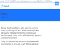 Frontpage screenshot for site: Mozaik - Turistička agencija & Servis za čišćenje (http://www.mozaikzd.hr)
