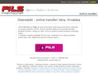 Slika naslovnice sjedišta: GoFILS cestovni turistički i poslovni transferi (http://transferi.fils.hr)