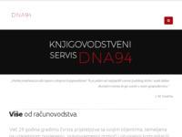 Slika naslovnice sjedišta: Knjigovodstveni servis DNA 94 (http://dna94.hr)