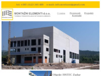 Frontpage screenshot for site: Montažni elementi d.o.o. (http://www.montazni-elementi.hr)