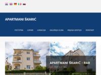 Frontpage screenshot for site: Apartmani Škarić u mjestu Lopar na otoku Rabu (http://www.holiday-skaric.com)