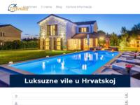 Frontpage screenshot for site: Traveler.hr - Turistička agencija luksuzne vile, apartmani,hoteli (http://traveler.hr/)