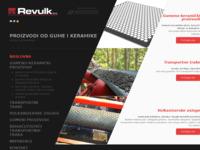 Frontpage screenshot for site: Gumeno keramički proizvodi - Transportne trake (http://revulk.com)