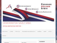 Frontpage screenshot for site: Demokratski savez Srba (http://demokratskisavezsrba.hr)