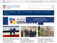 Frontpage screenshot for site: Ministarstvo uprave Republike Hrvatske (http://uprava.gov.hr)