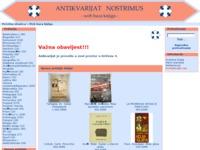 Frontpage screenshot for site: Antikvarijat Nostrimus (http://www.antikvarijat-nostrimus.hr)