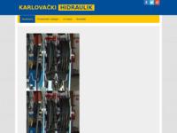 Frontpage screenshot for site: Karlovački hidraulik d.o.o. (http://www.karlovackihidraulik.hr)