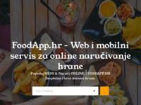 Frontpage screenshot for site: FoodApp - Web i mobilni servis za online naručivanje dostave hrane (http://foodapp.hr)