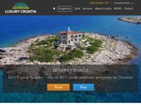 Frontpage screenshot for site: Agencija za nekretnine - LuxuryCroatia.net (http://luxurycroatia.net)