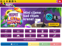 Frontpage screenshot for site: HG shop (http://www.hgshop.hr)