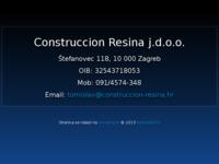 Frontpage screenshot for site: Construccion Resina j.d.o.o. (http://www.construccion-resina.hr)