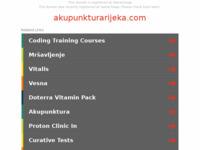 Slika naslovnice sjedišta: Akupunktura Rijeka (http://www.akupunkturarijeka.com)