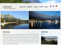 Frontpage screenshot for site: Apatmani Granic, Baska Voda (http://www.apartment.com.hr)