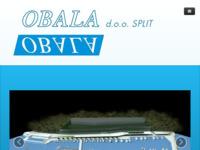 Frontpage screenshot for site: Obala d.o.o. - projektiranje u pomorstvu i hidrotehnici (http://obalasplit.hr)