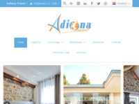Frontpage screenshot for site: Adiona Travel (http://adionatravel.hr)