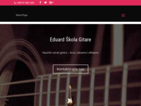Frontpage screenshot for site: Škola gitare - Eduard Škola Gitare (http://eduardskolagitare.com.hr/)