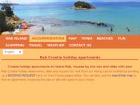 Frontpage screenshot for site: Otok Rab - informacije o otoku s listom apartmana za iznajmljivanje (https://www.rabholidays.com/)